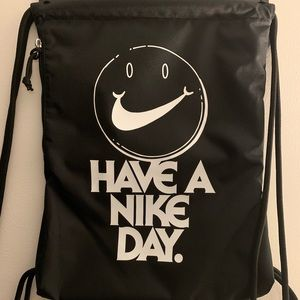Nike Pull String Gym Bag with Side Zipper